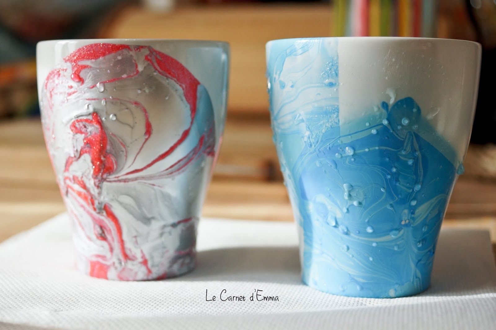 carnet diy les marble mugs le carnet d 39 emma. Black Bedroom Furniture Sets. Home Design Ideas