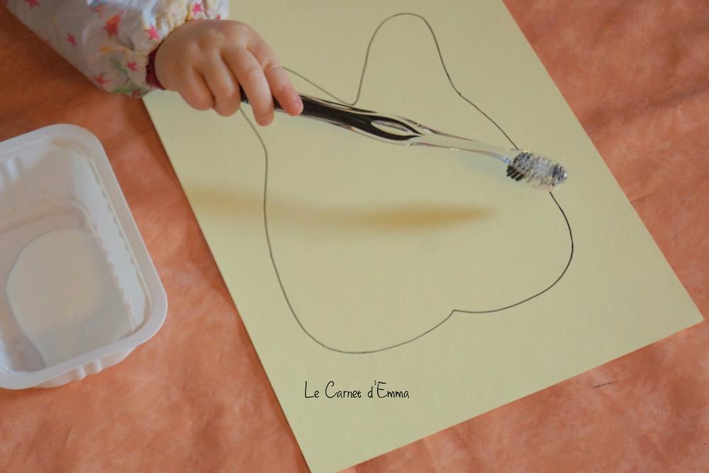 Activité manuelle, apprentissage brossage de dent, peinture