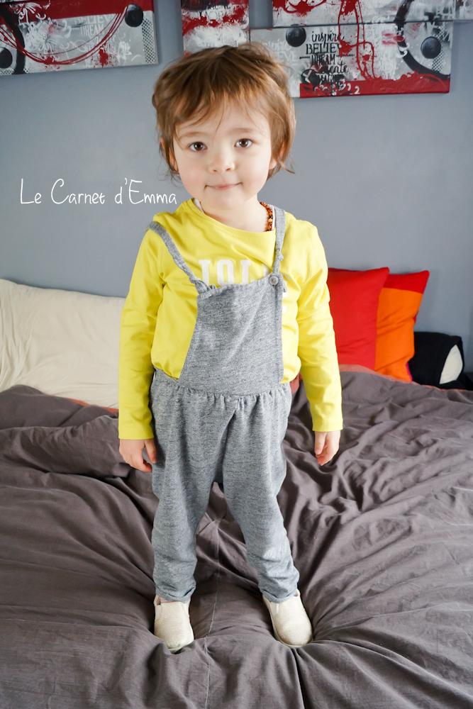 Kids look, jaune et gris, look enfant