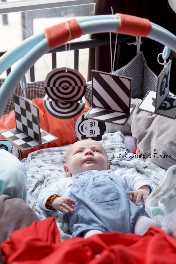 mobile contraste, montessori, DIY, bébé, baby