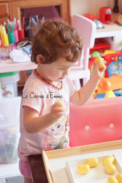 DIY mémory auditif, oeuf kinder, activité, enfant