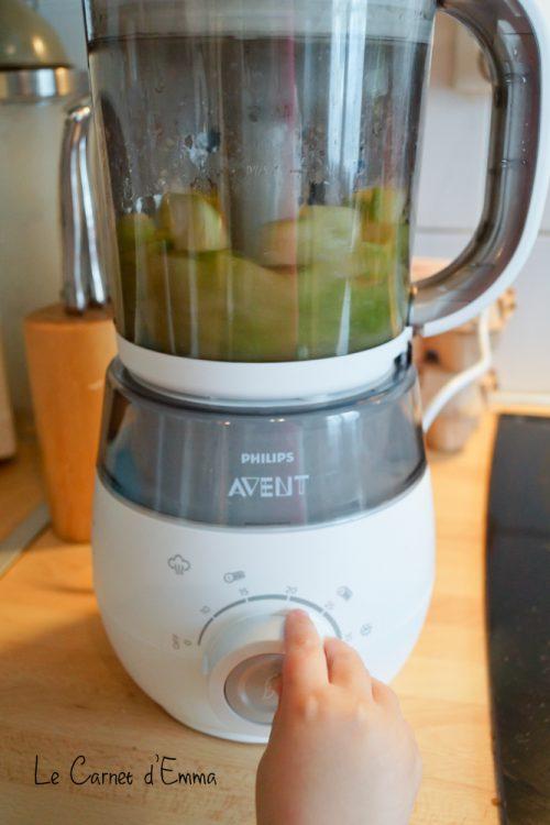 diversification bébé recette maison courgette robot 4 en 1 philips Avent