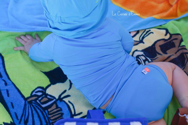 Test et avis du maillot couche et t-shirt anti uv Hamac, maillot de bain, couche, bain, baignade