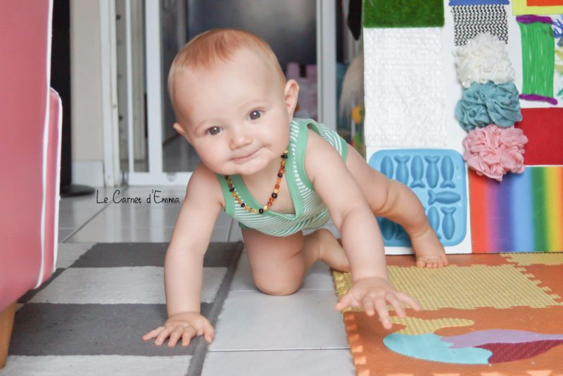 body rayé 100% coton bio Baby Look