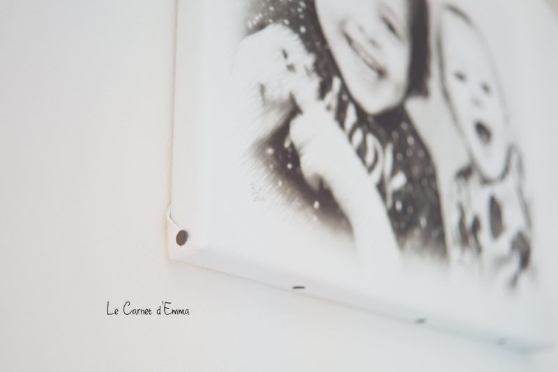 Portrait style fusain sur toile, onveut.com