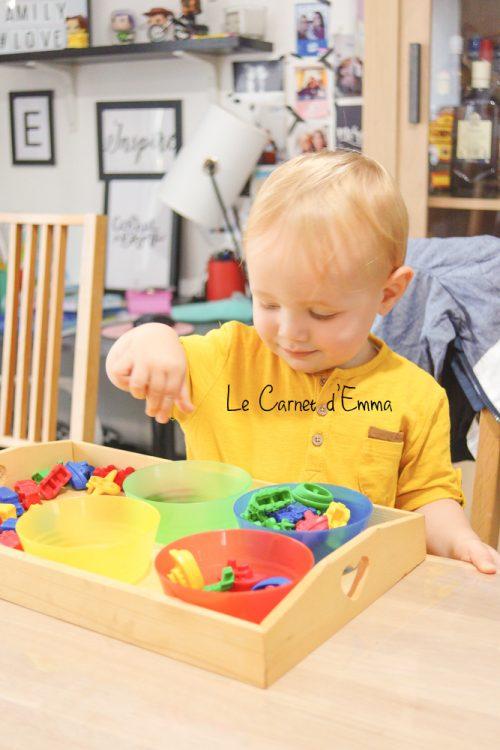 activité de trie des couleurs - enfant 1-2 ans