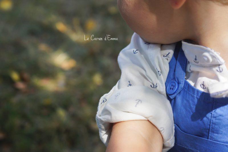 Baby Look salopette bleue la Redoute