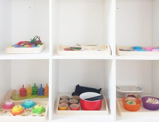 inspiration plateau d'activité type montessori pour des ateliers en autonomie enfant 2 et 3 ans