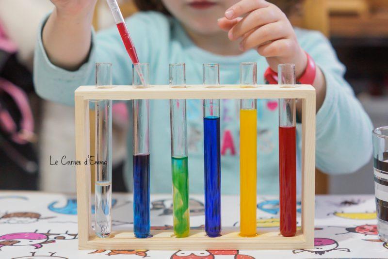 expérience de mélange des couleurs primaires. Activités 3-5 ans