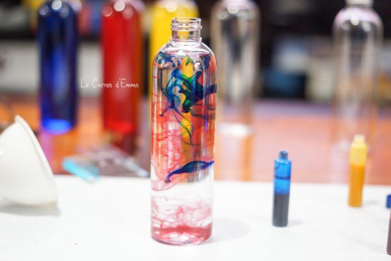 DIY bouteilles sensorielles pour enfant et bébé.
