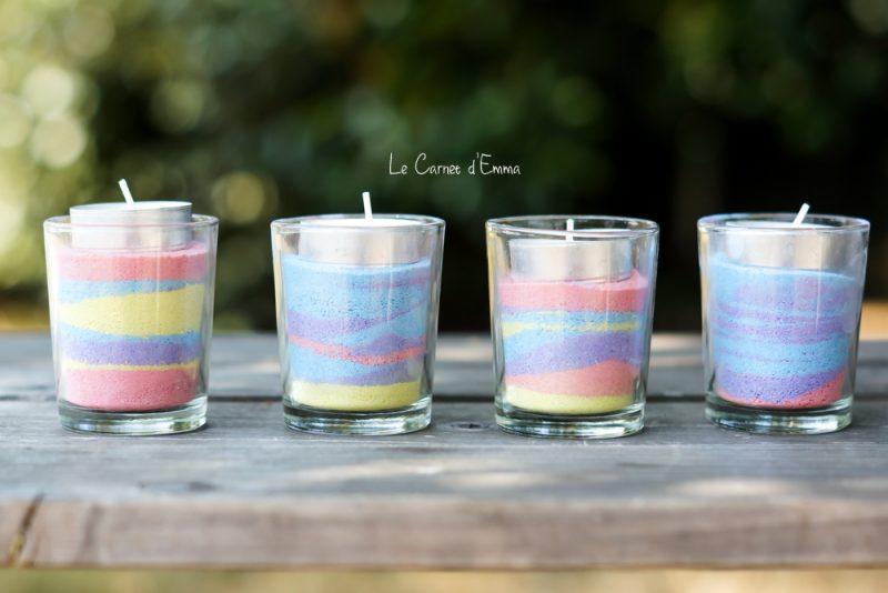 Activité manuelle - photophore sel colorée - idée
