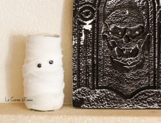 Activité manuelle pour Halloween. Des fantômes en photophore pour une décoration effrayante. Enfant - 2-4 ans et plus