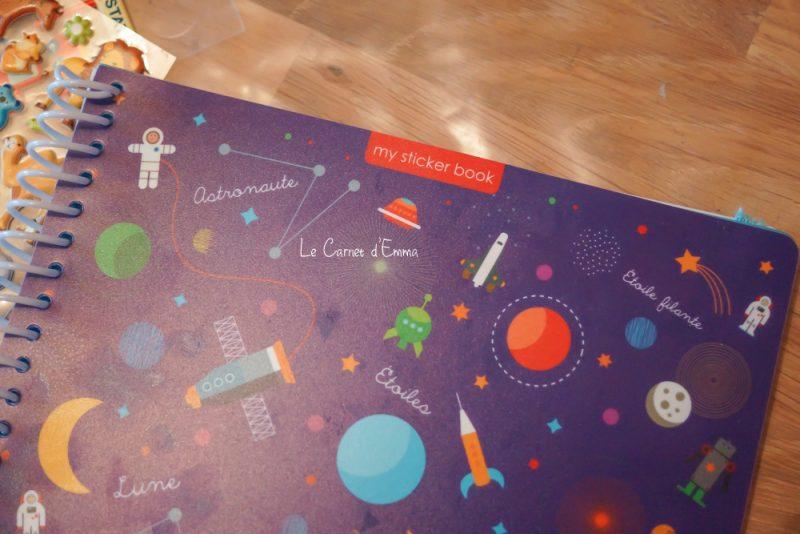 Découverte Sticker Books Majolo Activité gommettes à coller et décoller. Zéro déchet Cahier effaçable et réutilisable à volonté. Busy Bag
