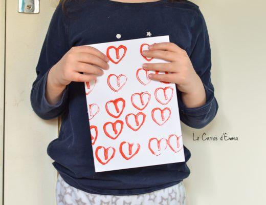 Activité Manuelle Activité Créative Sa première carte de Saint Valentin Carte coeur Peinture