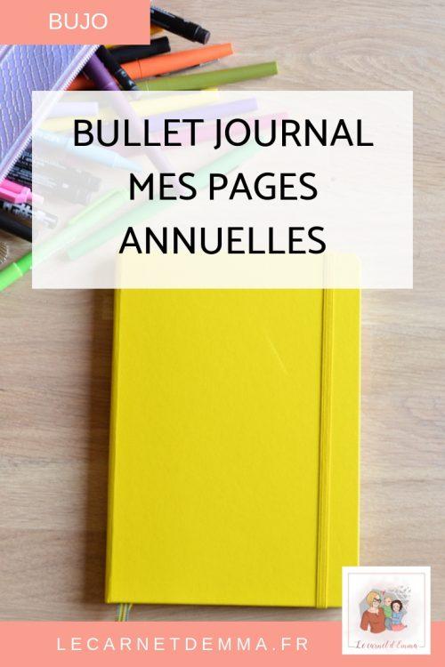 Bullet Journal 2019 Inspiration Bujo Page annuelle pour mon bujo