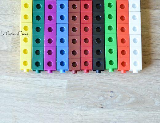 7 idées d'activités avec des cubes de couleurs activités sur le thème des chiffres, mathématiques, grandeur, couleurs, tri, suite logique, addition Printable gratuit printable à télécharger