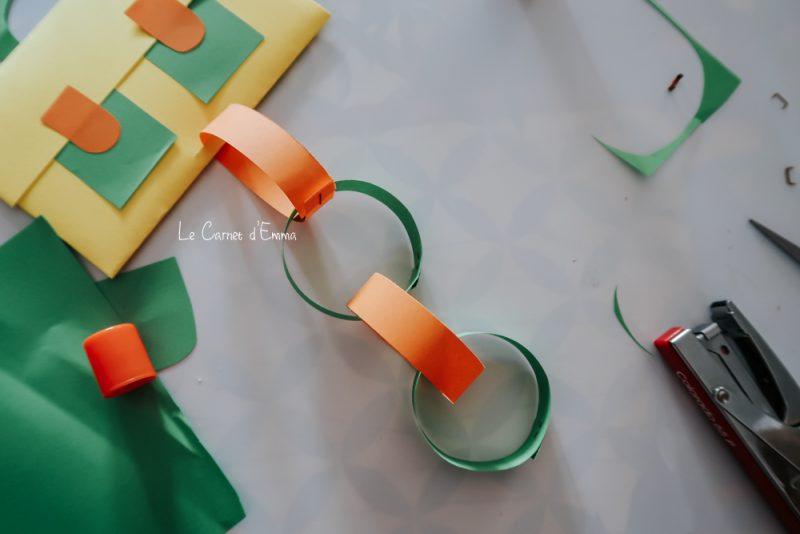 Idée d'activité manuelle sur le thème de la rentrée scolaire à faire avec les enfants. Un décompte des dodos avec un cartable en papier