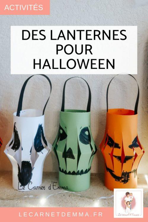 Activité manuelle et créative sur le thème d'Halloween en créant une Lanterne effrayante.
