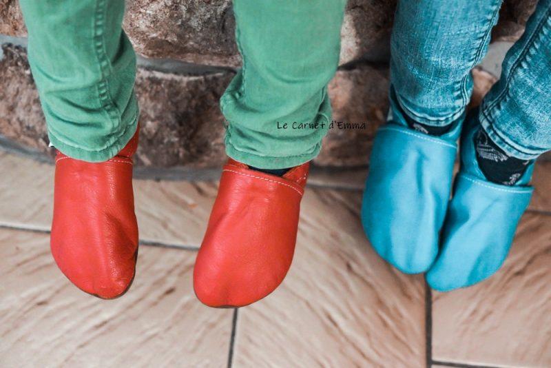 chaussons en cuir souple idéal pour les premiers pas de bébé et accompagner l'enfant en grandissant