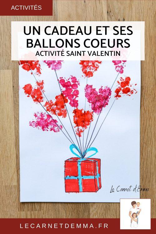 Activité manuelle sur le thème de la saint valentin. Activité créative avec du papier bulle pour créer des ballons pour la fête des amoureux. Bricolage maternelle pour les grands et les petits.