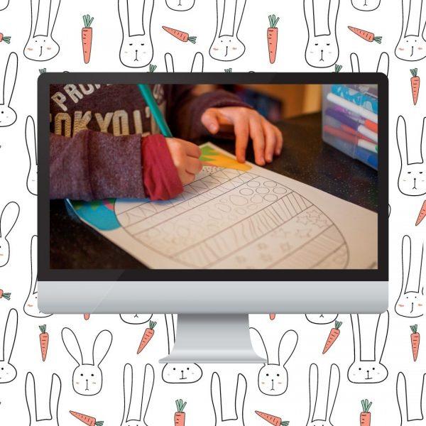 ebook sur le thème de pâques avec des idées d'activités manuelles et créatives, des petits jeux à imprimer, des coloriages. Le tout pour les 2 à 9 ans.