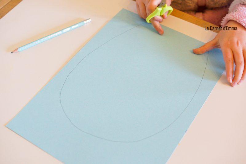 Activité manuelle et créative sur le thème de Pâques. Bricolage maternelle du printemps. Maison du lapin de pâques en papier collage. Loisirs créatifs pour les petits et les grands.