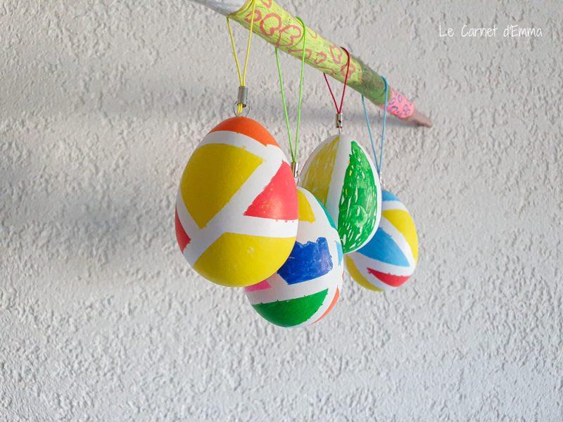 résultat final de l'activité œufs de pâques