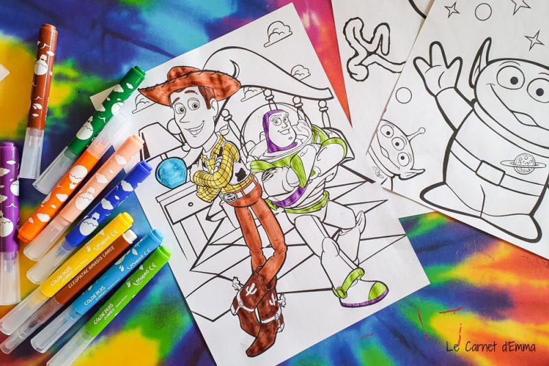 21 coloriages toy story à imprimer gratuitement. Téléchargement disney pixar