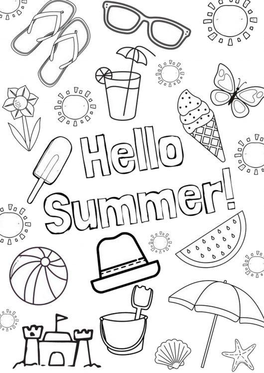 21 coloriages sur le thème de l'été pour les adultes et les enfants à imprimer gratuitement !