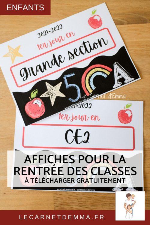 affiche pour la rentrée des classes à imprimer gratuitement pour faire la photo souvenir.