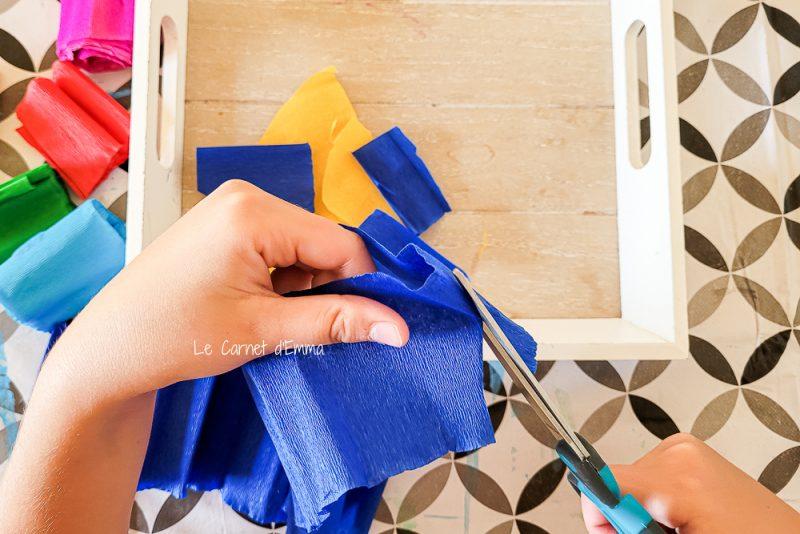 Découpage du papier crépon