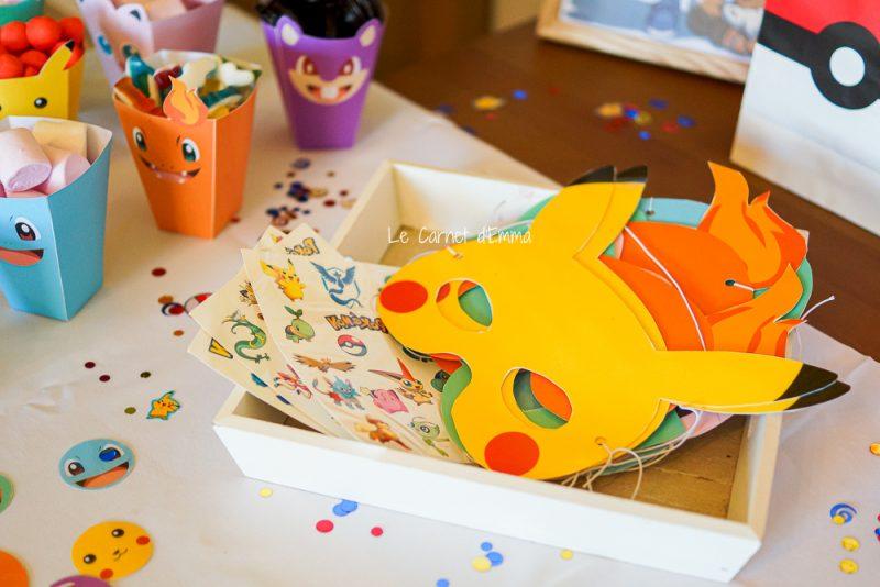 décoration anniversaire enfant thème pokémon, pikachu pokéball