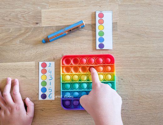 jeux à faire avec les Popit pour les enfants. Fiches à imprimer gratuitement pour des activités pédagogiques avec les pop it